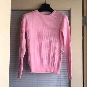 Light pink 3/4 length pullover cardigan